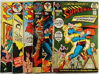 Superman #228-231,236,236 Lot of 6 1970 FN/VF- Neal Adams Bronze Age DC Comics