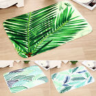 Retro Green Leaves Doormats Indoor Home Carpets Bathmat Room Floor Bathroom Mat