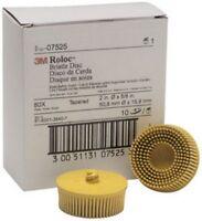 "Scotch-Brite Roloc Bristle Disc 07525 Yellow, 2"", Medium, 10 discs/bx 3M-7525"