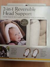 Eddie Bauer 2-in-1 Reversible Head Support. Ivory & Tan, 2 Pieces. Nib