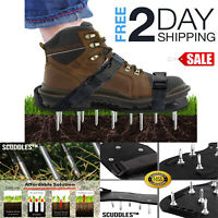 Shoes Aerator Spikes Lawn Shoe Aerators Sandals Metal Heavy Duty Updated
