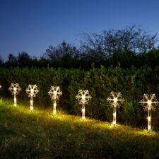 Weihnachten Große Schneeflocke Stake Licht Garten Outdoor Weg Akku Pre-Lit Xmas