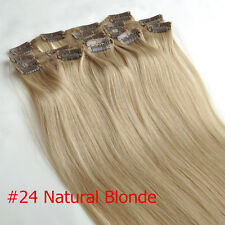Clip In Remy 100% Human Hair Extensions 18inch 70g 100g 120g Hair Piece Cheap