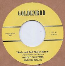 ROCKABILLY REPRO: HAROLD SHUTTERS - Rock & Roll Mr Moon/Fan The Flame GOLDENROD