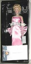 Franklin Mint Marilyn Monroe Portrait Doll Porcelain Pink Gown NRFB NEW