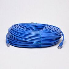 100' FT CAT6 23 AWG RJ45 Ethernet Network LAN Patch Cable Blue UTP