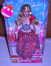 #3590 NRFB Mattel Supermarket 2013 Holiday Wishes Barbie Doll Special Edition