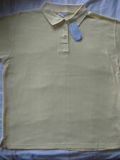 NEW WOMEN'S PIQUE POLO TOP / T SHIRT YELLOW ILLUSIONS SIZE UK 14 / 16 BNWT