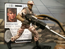 GI JOE ~ 2009 REPEATER ~ TOYS R US DESERT CAMO  EXCLUSIVE ~100% COMP & FILE CARD