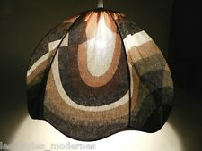 HÄNGELEUCHTE ° stylische 70er Jahre Stoff Lampe ° Design Verner Panton o.Umkreis