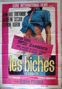 """BICHES, Les Italian 2 Panel Movie Poster 4 Fogli 55x77"""" Claude Chabrol Film 1968"""