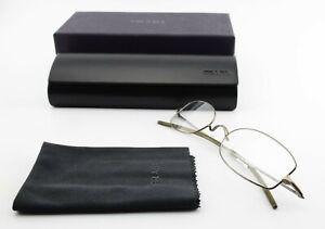 Oliver Peoples L.A.Glasses Surgery 515 50 20 135 Eye Frame Metal + Prada Case