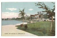 Postcard Colonial Lake & Ruttedge St Charleston SC