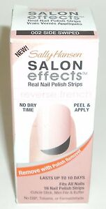 Sally Hansen Salon Effects Nail Polish Strips Reverse French SIDE SWIPED 002