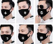 LUMINOSO Black Face Copertura Protettiva cotone lavabile riutilizzabile Halloween Bandana