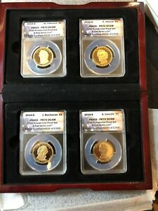 2010-S $1 Presidential Proof Dollar Set First Strike ANACS PR70 DCAM W/Box