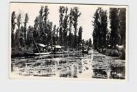 RPPC REAL PHOTO POSTCARD MEXICO XOCHIMILCO BOATS ON WATER #3