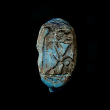 """Egyptian faïence ring of """"Tueris"""", 18th - 19th Dynasty 1549 to 1189 B.C., x9991"""