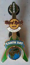 2006 HARD ROCK CAFE DALLAS EARTH DAY GLOBE SPINNER FLYING 'V' GUITAR PIN