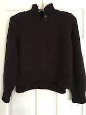 Ball of Cotton 100% Marino Wool Brown Pullover Sweater Size S Handloomed in USA