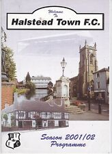 HALSTEAD TOWN FC RESULTS & STATS FOR 1ST TEAM,RESERVES & UNDER 18'S  2001/02