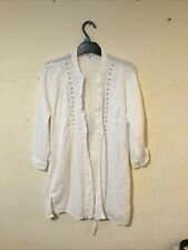 M and Co Long White Sparkly Shirt Blouse size 20
