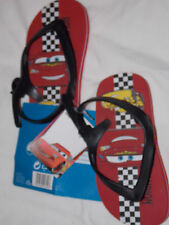 Disney CARS, Red, flip-flop sandals with side buckle. size 2.5 kids. ( 24) NEW