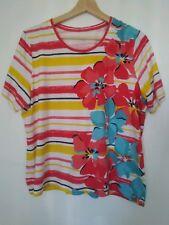 1f490ea03f168d Allison Daley Women petite Size L T-shirt Floral Blouse top