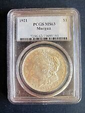 1921 P MORGAN DOLLAR VAM 24A3 PCGS MS63 DIE BREAK REVERSE FINEST KNOWN