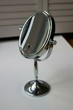 Danielle Creations 2-Sided Vanity Make-Up Mirror 7x Magnification Chrome Silver