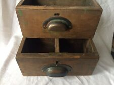 Vintage small Wooden drawers With Beautiful Pull Handles