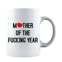 Mother Of The F❤cking Year Mothers Day Idea Funny Life Mom Ceramic Coffee Mug