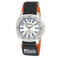 Ravel Men's Surfer 5ATM Velcro Quartz Watch Silver Dial Nylon Strap R5-10.8G