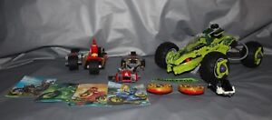 Lego Ninjago Fangpyre Truck Ambush 9445 And Bike Chase 70600 Building Toys