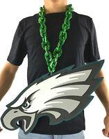 New NFL Philadelphia Eagles GREEN Fan Chain Necklace Foam - JUMBO SIZE