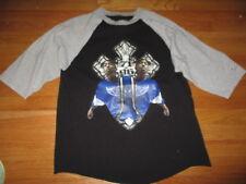Repro TUPAC SHAKUR (LG) Long Sleeve Baseball Jersey Shirt DETROIT REDWINGS