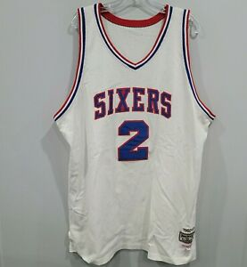 VTG 1982 Mitchell & Ness Philadelphia 76ers Moses Malone 2 Throwback Jersey 52