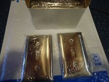 Hubbell wall plates smooth 1 toggle Stainless Steel SS1  Box of 10