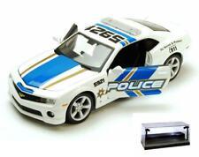 DIECAST CAR W/LED CASE 2010 CHEVROLET CAMARO POLICE W/& SHOWCASTS 3408 1/24