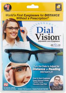Dial Adjustable Glasses Variable Focus Reading Distance Vision Eyeglass Eyewear