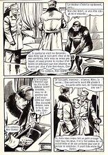 OSS 117 LE CHIMPANZEE QUI PARLE (BRUCE/SANCHEZ) PLANCHE ORIGINALE PAGE 128