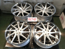 "22"" AZAD AZ23 Chrome Lip Concave Audi A7 S7 A8 A8L Staggered Wheels W74F"