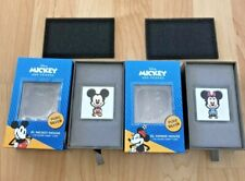 2021 Disney 2-COIN SET Mickey & Minnie Mouse 1 oz Silver Proof Chibi 2000 Minted