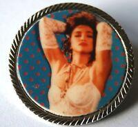 MADONNA Old OG Vtg 1980`s Metal Pin Badge Rare Pop Queen(NOT cd tour patch)
