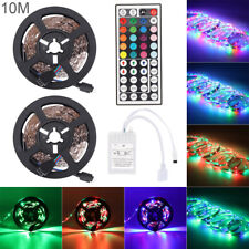 10M 3528 RGB 600 Led SMD Flexible Light Strip Lamp/44 key IR/12V 2A Power Supply