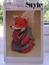 """Vintage 1977 Basil Brush Gant Marionnette Jouet Doux 14"""" style sewing pattern no..."""