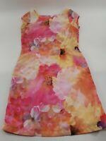 Womens Floral Liz Claiborne Knee Length Dress Size 10
