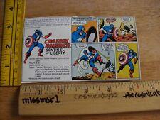 Captain America Marvel Secret Wars card action figure backing cut out 1984