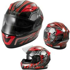 Full-Face Ece 22-05 Motorcycle Scooter Visor Sunshade Graphic Red