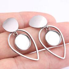 10pcs Stainless steel blank cabochon earring base settings Post Earrings Finding